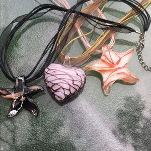 Glass bead necklaces set